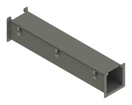 Lay In Wireway 3 ft. 8inWx8inH Steel by USA Hoffman Wireways & Cable Trays