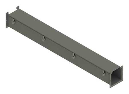 Lay In Wireway 5 ft. 8inWx8inH Steel by USA Hoffman Wireways & Cable Trays