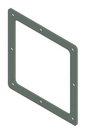 Box Connector Ind Steel 6in. H x 6in. L by USA Hoffman Wireways & Cable Trays
