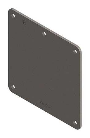 Closure Plate Ind Steel 2.50inHx2.50inL by USA Hoffman Wireways & Cable Trays