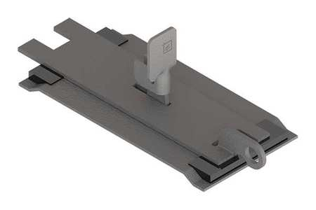 Sealing Plate Wireway Steel 6in.Hx6in.L Model F66LSGQR by USA Hoffman Wireways & Cable Trays