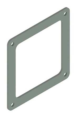 Box Connector Ind Steel 2.50inHx2.50inL by USA Hoffman Wireways & Cable Trays