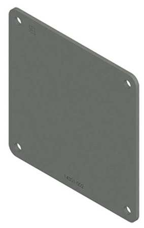 Closure Plate Steel 2.50in.Hx2.50in.L by USA Hoffman Wireways & Cable Trays