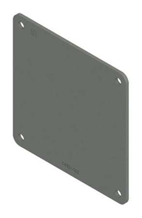 Closure Plate Wireway Steel 4in.Hx4in.L Model F44WP by USA Hoffman Wireways & Cable Trays