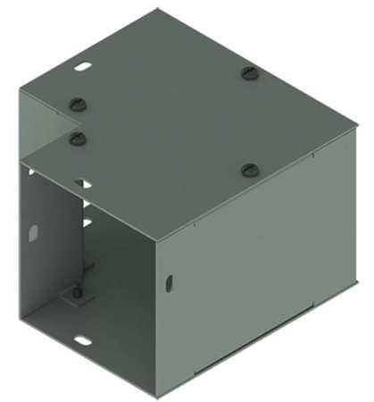 Elbow 90deg. Comm Steel 4in.Hx4in.L Model F44G90E by USA Hoffman Wireways & Cable Trays