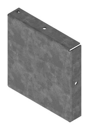 Closure Plate Wireway Steel 4in.Hx4in.L Model F44GCPNKGV by USA Hoffman Wireways & Cable Trays