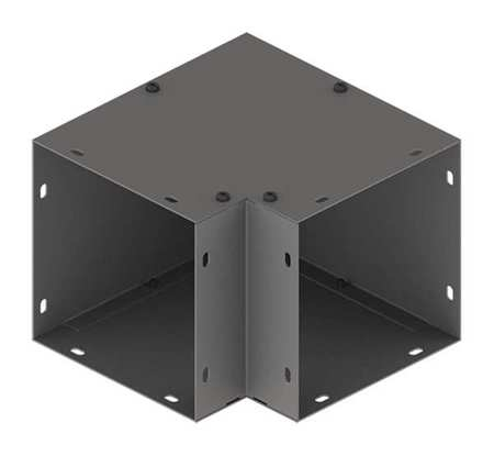 Elbow 90deg. Comm Steel 6in.Hx6in.L Model F66G90E by USA Hoffman Wireways & Cable Trays