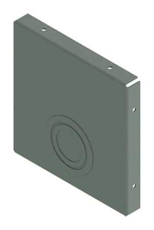 Closure Plate Wireway Steel 6in.Hx6in.L Model F66GCP by USA Hoffman Wireways & Cable Trays