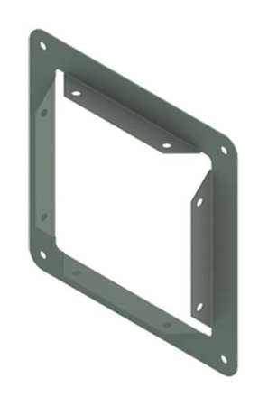 Panel Adapter Steel 2.50in.Hx2.50in.L by USA Hoffman Wireways & Cable Trays