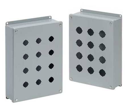 Pushbutton Enclosure 14.75 in H 6 Holes by USA Hoffman Electrical Pushbutton Enclosures & Accessories