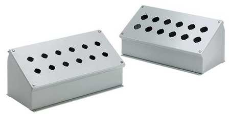 Pushbutto Enclosure 7.25 in H Mild Steel by USA Hoffman Electrical Pushbutton Enclosures & Accessories