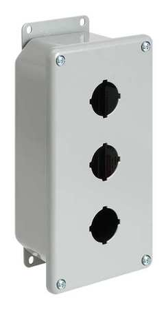 Pushbuttn Enclosure 7.25 in H Mild Steel by USA Hoffman Electrical Pushbutton Enclosures & Accessories