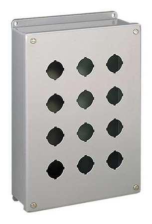Pushbutton Enclosure 2.75 in D 304 SS by USA Hoffman Electrical Pushbutton Enclosures & Accessories