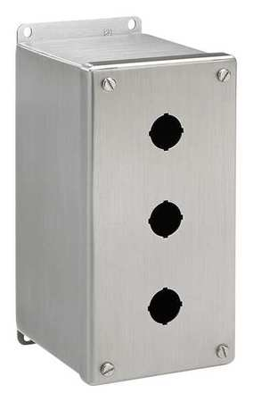 Pushbutton Enclosure 4.75 in. D 304 SS by USA Hoffman Electrical Pushbutton Enclosures & Accessories