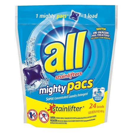 All 24 Pods Packet Fresh Scent Laundry Detergent, 6 Pack