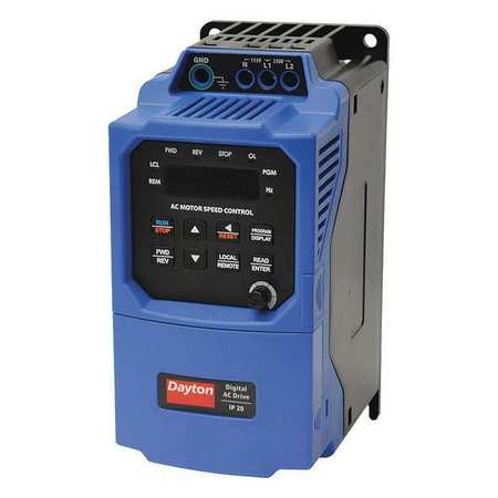 Variable Freq Drive 1/2HP 115/208 230V by USA Dayton Variable Frequency Open Enclosure Drives