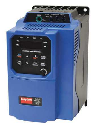 Variable Frequency Drive 3 HP 208 230V by USA Dayton Variable Frequency Open Enclosure Drives