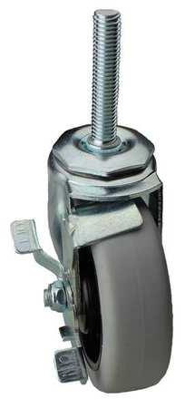 Value Brand Swivel Stem Cstr w/Brake 3-1/2 in 250 lb