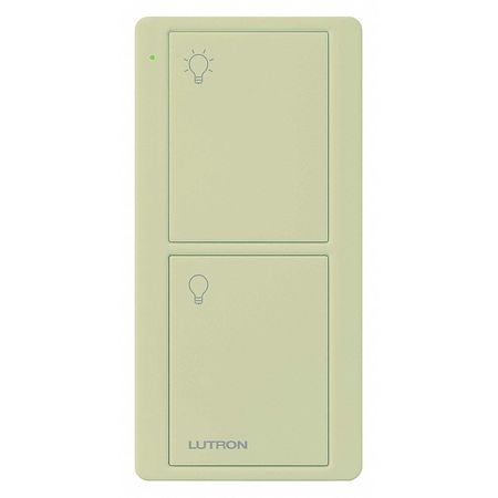 Wireless Remote Control 2 Buttons Ivory Model PJ2 2B GIV L01 by USA Lutron Electrical Lighting Dimmers
