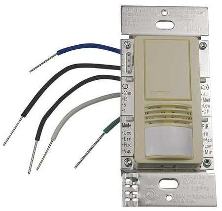 Occupancy Sensor PIR/Ult 900sq ft Ivory by USA Lutron Infrared Motion Sensors