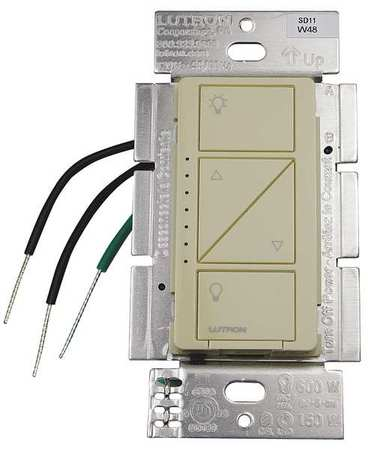 Lighting Dimmer 1 Pole 120V Ivory by USA Lutron Electrical Lighting Dimmers