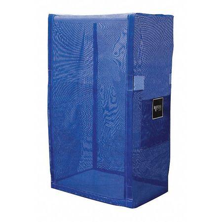 Royal Basket PVC Cart Cover 32 In. 3 Shelf Blue Mesh