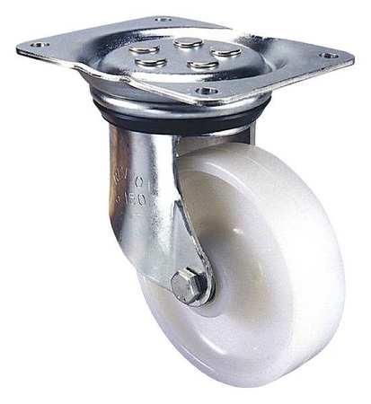 Value Brand Kingpinless Plate Caster Swivel Nylon 8 in. 1100 lb