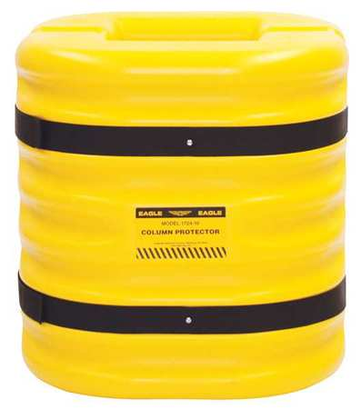 Value Brand Column Protectr Fits 8 in. HDPE Yllw