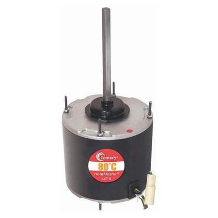 Condenser Fan Motor 1/4 HP 825 rpm 1 Ph by USA Century Permanent Split Capacitor Condenser Fan Motors