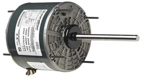 Marathon motors condenser fan motor 1 6 hp 1075 rpm for Blower motor capacitor symptoms