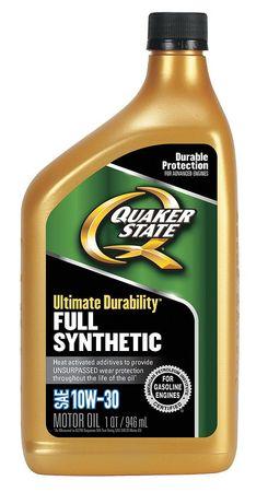 Motor Oil, 1 qt., 10W-30, Full Synthetic -  QUAKER STATE, 550036715