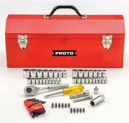"Proto Socket Wrench Set 1/4"" 3/8"" Dr 65 pc"