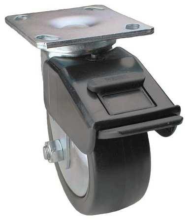 Value Brand Swivel Plate Caster w/Total-Lock Polyolefin 700lb