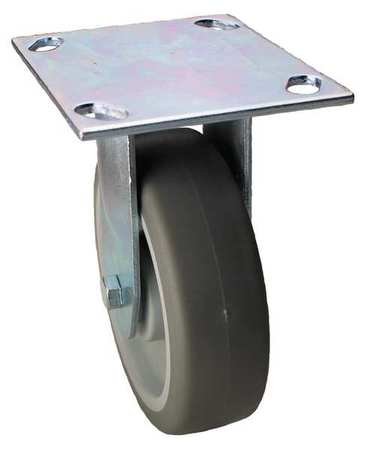 Value Brand Rigid Plate Caster TPR 4 in. 275 lb. Type 02XS04128R001GN