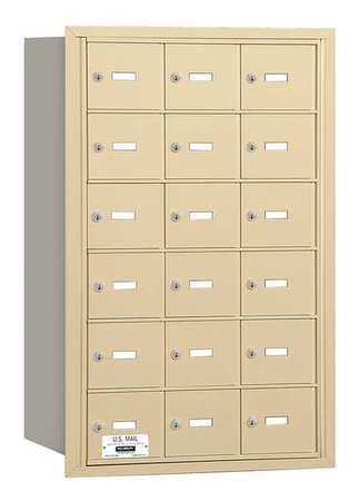 Horiz Mailbox,USPS,18Dr,Sand,RL,35-1/4in
