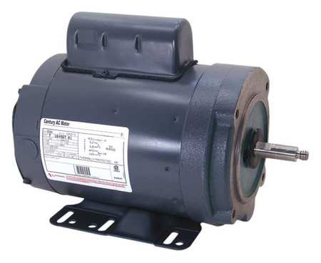Milk Pump Motor PSC TENV 1 HP 3450 RPM Model B586 by USA Century AC Farm Duty Motors