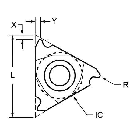 Ultra-Dex Carbide Insert Triangle 3IRG60 Min. Qty 10