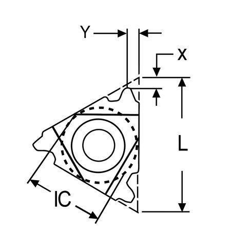 Ultra-Dex Carbide Insert Triangle 3IL10ACME Min. Qty 10