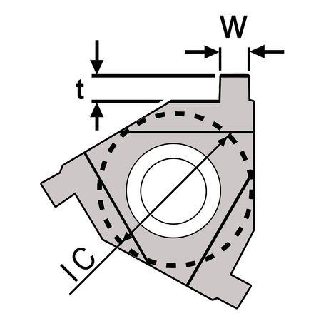 Ultra-Dex Carbide Insert Triangle 3IR NG W.047 Min. Qty 10