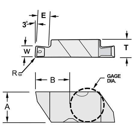 Ultra-Dex Carbide Insert Top Notch NG 4L W.189 Min. Qty 10