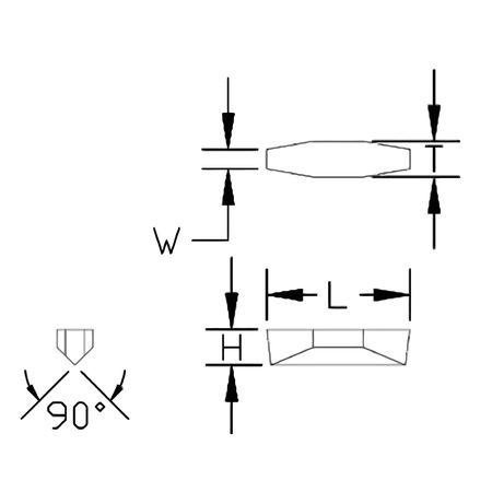 Ultra-Dex Carbide Insert V84 NV .025R Min. Qty 10