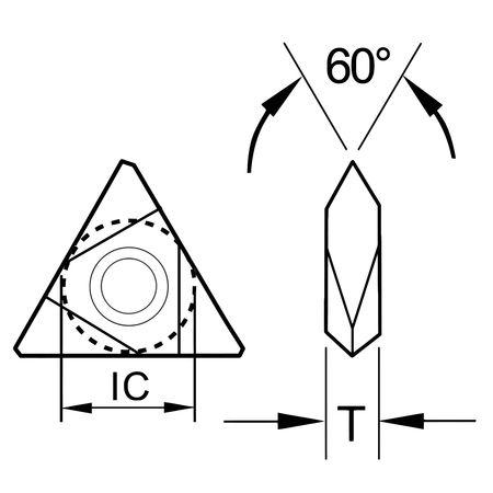 Ultra-Dex Carbide Insert Triangle TNMA 43NV Min. Qty 10