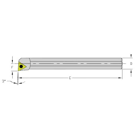 Ultra-Dex Boring Bar HM06J STUCR1.2