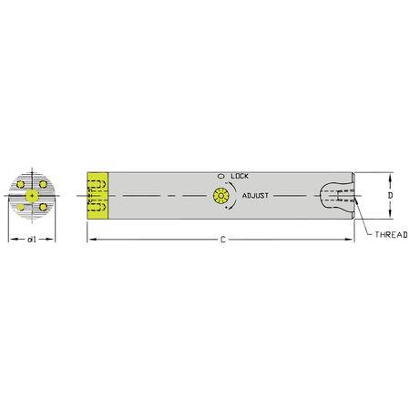 Ultra-Dex Boring Bar SCFT B1250 16