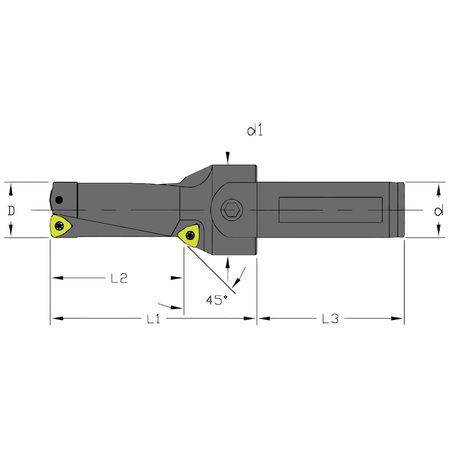 Ultra-Dex Indexable Drill UCD 1000 2D 100 C