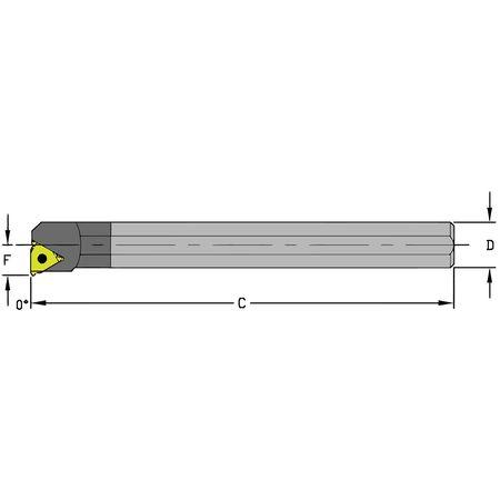 Ultra-Dex Boring Bar E08R LSER2