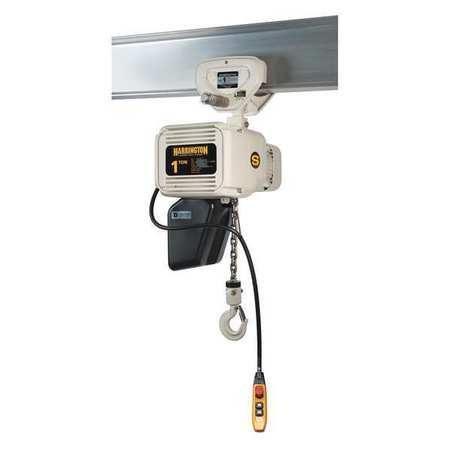 Harrington Elec. Chain Hoist 2000lb 20ft. 14/2.5fpm