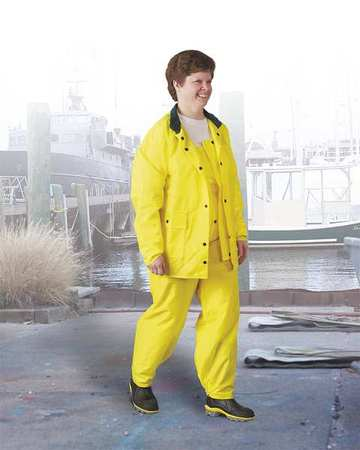 Rain Jacket,mens,yellow,2xl,polyurethane