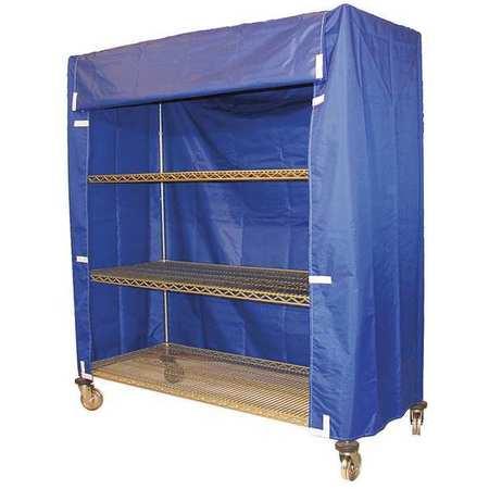 Value Brand Cart Cover 48x18x86 Blue Nylon
