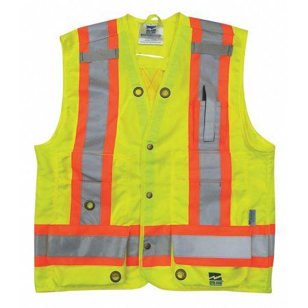 Surveyor Vest,mens,ansi Class 2,grn,2xl